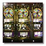 3dRose dpp_92287_2 Nevada, Las Vegas  McCarran Airport, Slot machines US29 WBI0153 Walter Bibikow Wall Clock, 13 by 13-Inch
