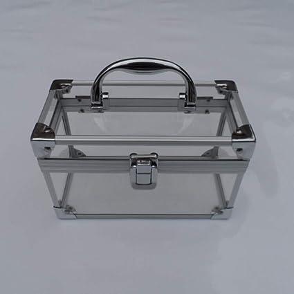 2e98036b6 Amazon.com: TXqueen Transparent Acrylic Bag,Portable Professional Makeup  Case Makeup Artist Case Makeup Train Case Makeup Artist Organizer: Sports &  ...