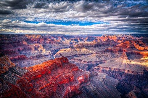 Grand Canyon Poster Large Elegant Panoramic Souvenir Sunset Print by SourceSheets