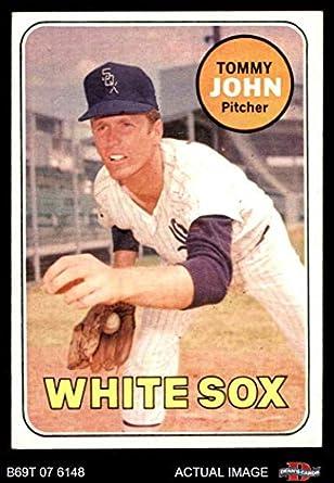 Amazoncom 1969 Topps 465 Tommy John Chicago White Sox Baseball
