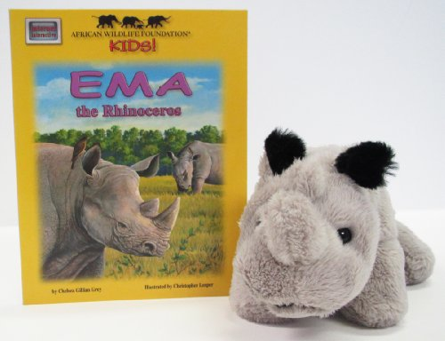African Wildlife Foundation Kids!: Ema the Rhinoceros 3-Piece Set (Casebound Hide-N-Seek Book W/ CD and 6 Plush Toy) - Chelsea Plush