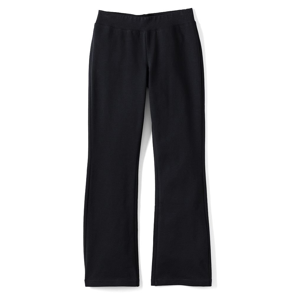 Lands' End Girls Plus Yoga Boot Cut Pants, S, Black