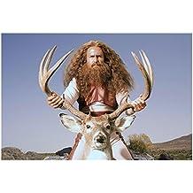 Gentlemen Broncos 8 Inch x 10 Inch Photo Sam Rockwell Holding Deer by Antlers kn