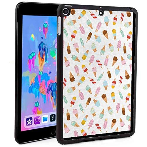 Case for 2018 iPad Mini 5 (7.9-Inch) Ice Cream Cartoon Doodle Style Creamy Delicious Diary Desserts with Various Sweet Flavors Multicolor ()