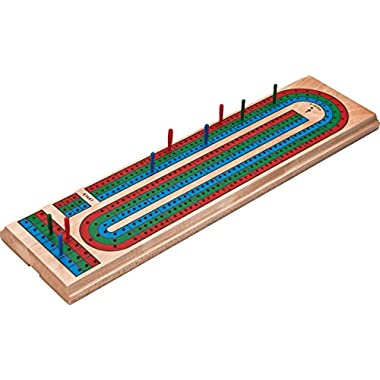 Mainstreet Classics Traditional Wooden Cribbage Board Game Set