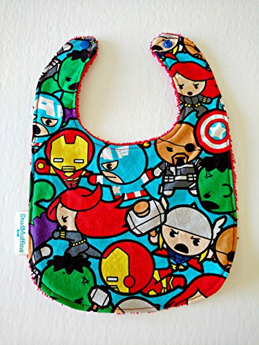 Avengers Super Hero Handmade Bib Terry Cloth Drool Bib by Stud Muffins & Tutully Cute Designs