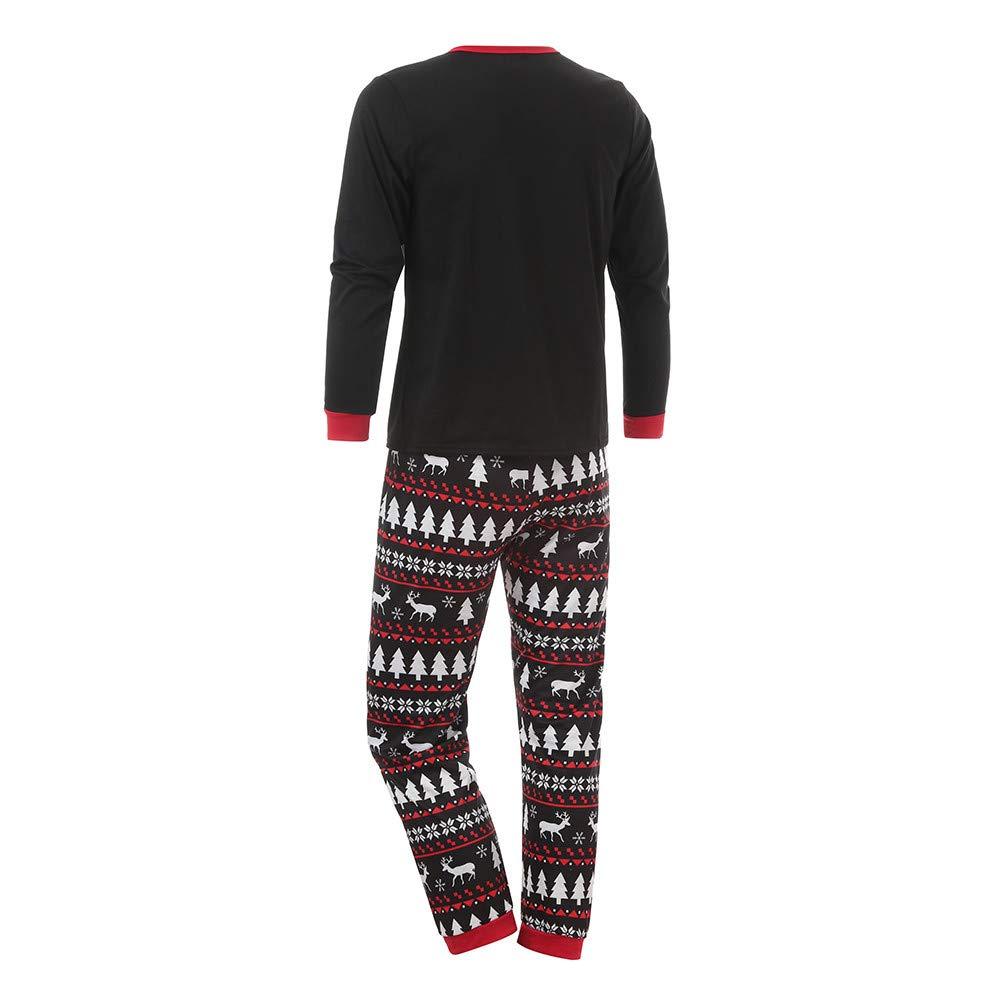 Matching Christmas Pajamas,Family Xmas Cartoon Snowman Printed Nightwear Winter Warm Clothes Pajamas 2pcs Set