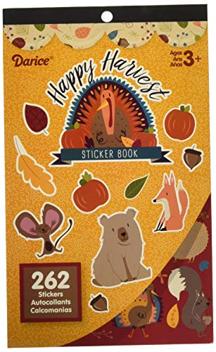 Darice 262 Piece Happy Harvest Thanksgiving Sticker Book (Pack of 1)