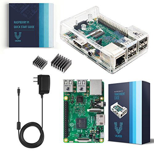 Vilros Raspberry Pi 3 Kit with Clear Case and 2.5A Power Supply (Raspberry B Kit)