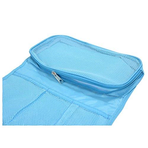 TOOGOO (R) Neceser de Viaje de lona Bolsa colgante plegable Organizador (azul)