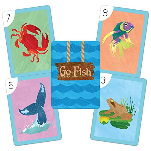 Go fish illustrated card game by imagination generation for Go fish cards