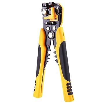 Starnearby Alicates de alambre multiusos automáticos para cortar pelacables, herramienta de alicates para terminales: Amazon.es: Bricolaje y herramientas