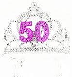 70 yr old birthday - Forum Novelties Happy Birthday 50th Silver Pink Tiara