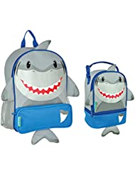 Stephen Joseph Boys Sidekick Shark Backpack and Lunch Pal Combo for Kids