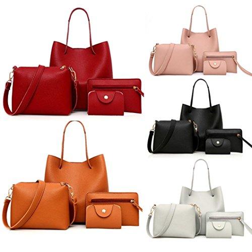 Tempo Per Moda Cross Modello Rosso Monospalla Litchi Diagonale Tote Pack Borsa Quattro Bag Il Qualità Donna Libero Nuovo Di In Borsa BANAA Borsa Sacchetto Pelle Pezzi wqXtpR5R