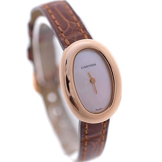 brand new a99f8 050d8 Amazon | カルティエ CARTIER ミニベニュワール 腕時計 ブラウン ...