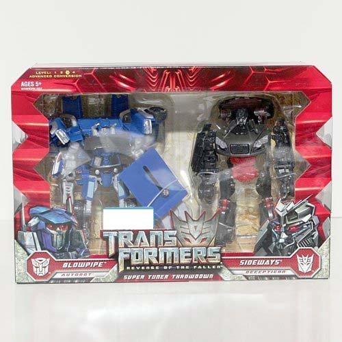 Transformers 2: Revenge of the Fallen Movie Exclusive Deluxe Class 2-Pack Super Tuner Throwdown Blowpipe & Sideways