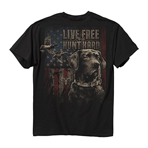 - Buckwear Men's Live Free Duck Cotton T-Shirt, Black, Medium