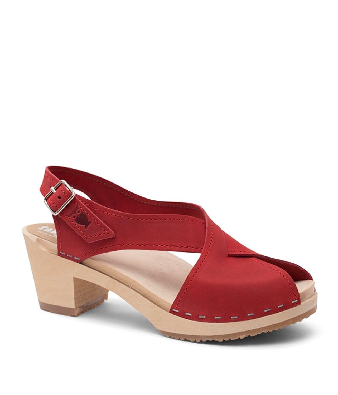 Sandgrens Swedish High Heel Wood Clog Sandals for Women | Morocco