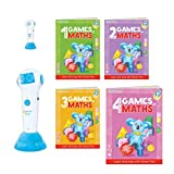 Talking Pen + 4 Books Games of Math (Super Bundle). The Most Entertaining Way to Learn Math! The Pen Supports English and Other International Languages. Fun Games and Tasks Inside!