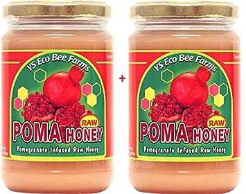 Amazon.com: Raw Poma miel Granada impregnado Raw miel 2 ...