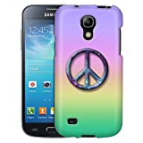 Samsung Galaxy S4 Mini Case, Slim Fit Snap On Cover by Trek Peace on Rainbow Pastel Colors Case
