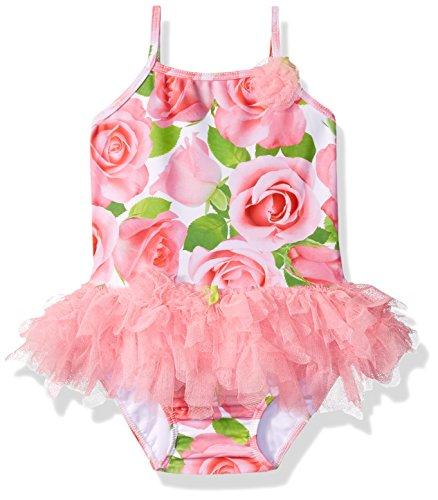 Kate Mack Toddler Girls' Rose Parfait Tutu Swimsuit, Pink, 2T