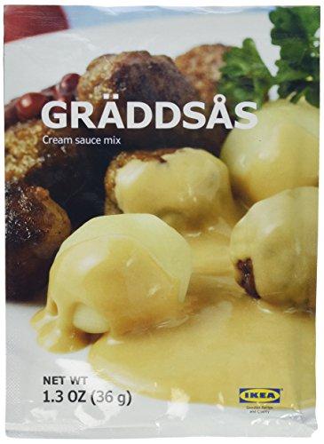 Price comparison product image 3 x 1.3oz IKEA Swedish Meatball Cream Creme Sauce Gravy Mix Graddsas - 3 Packets per order