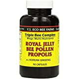 YS Eco Bee Farms Royal Jelly Bee Pollen Propolis with Ginseng (Pack of 2)