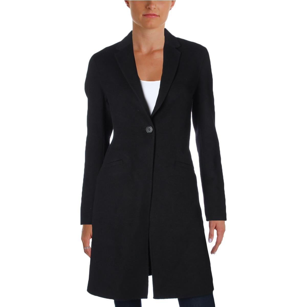 Lauren Ralph Lauren Womens Wool Blend Single-Breasted Coat Black S by Lauren by Ralph Lauren (Image #1)