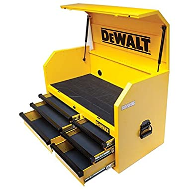 6 Drawer Top Chest, 100 Lb Capacity on All Drawers, 5  X 2  Casters, Auto Return Drawers, 600 Lb Capacity.