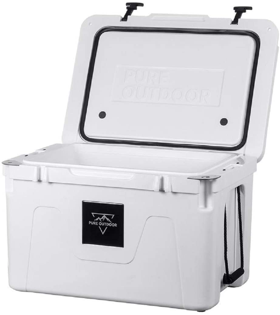 Monoprice Emperor Cooler - 50 Liters - White | Securely Sealed, Ideal for The Hottest and Coldest Conditions - Pure Outdoor Collection