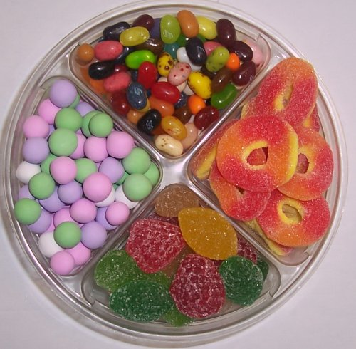 Scott's Cakes 4-Pack Chocolate Dutch Mints, Peach Rings, Pectin Fruit Gels, & Assorted Jelly Beans by Scott's Cakes (Image #1)