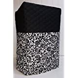 Black & White Floral Damask Bread Machine Cover (Black) coupons 2017