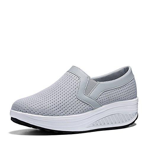 huge discount 0fa1f e2eaa Skaka Womens Shape Ups Mesh Slip-on Tillfälliga Promenad Kilar Skor Andas  Träna Sneakers För