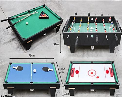 4 en 1, tabla de juego multi piscina / air hockey y tenis de mesa ...