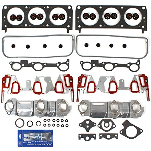 EHG0071GINSI New Graphite Cylinder Head Gasket Set (w/ UPGRADED Aluminum Lower Intake (Graphite Head Gasket)