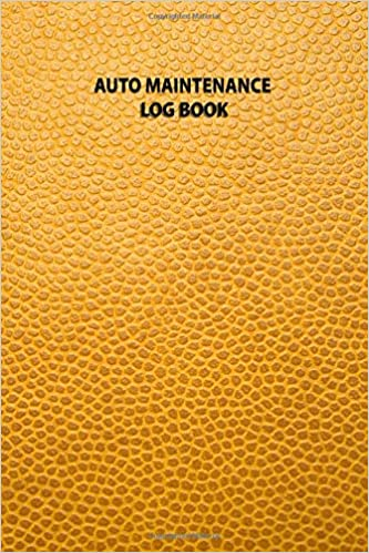 Auto Maintenance Log Book A 100 Page Yellow Faux Leather Vehicle