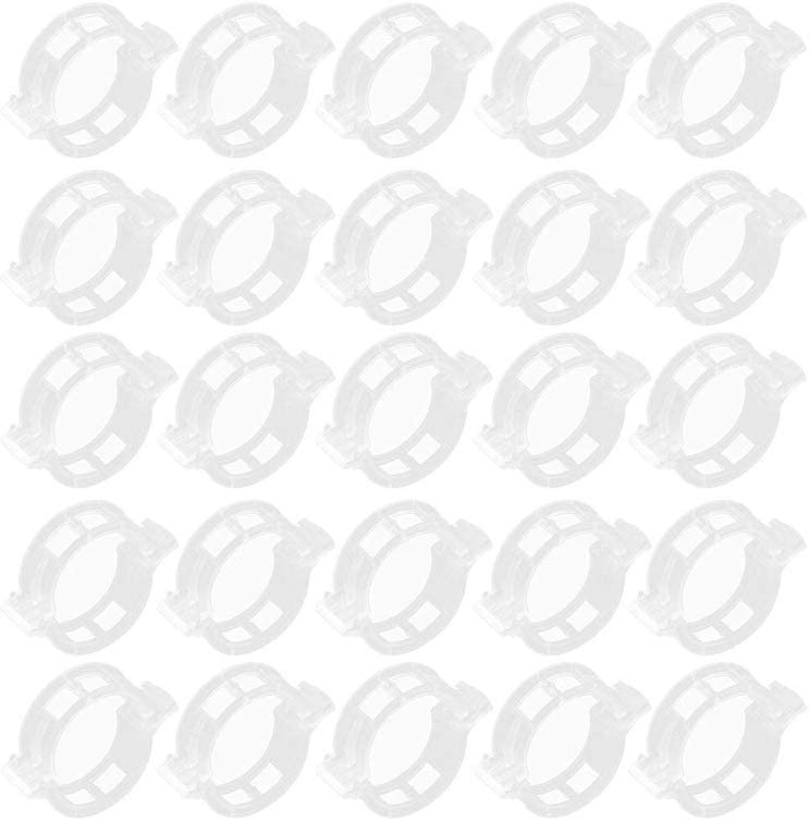 Moligin Clips De Jard/ín De Plantas De Jardiner/ía Vine Soporte De Fijaci/ón Clips Clips De Pl/ástico para Las Vides De Plantas Trepadoras Y Mantener Las Plantas a Soportes 100 Piezas Blanca Aprox