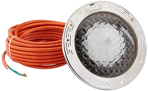 Pentair 78438100 Amerlite Underwater Incandescent Pool Light with Stainless Steel Face Ring, 12 Volt, 50 Foot Cord, 300 - Pool Amerlite