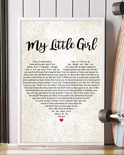 Mattata Decor Gift My Little Girl Song Lyrics Portrait Poster Print (24