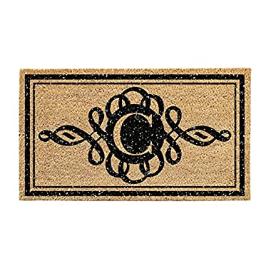 Glitter Scroll Monogram C Door Mat