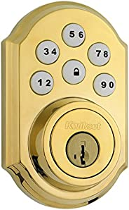 Kwikset SmartCode 910 Zigbee Traditional Style Deadbolt with Home Connect, Polished Brass (99100-043)