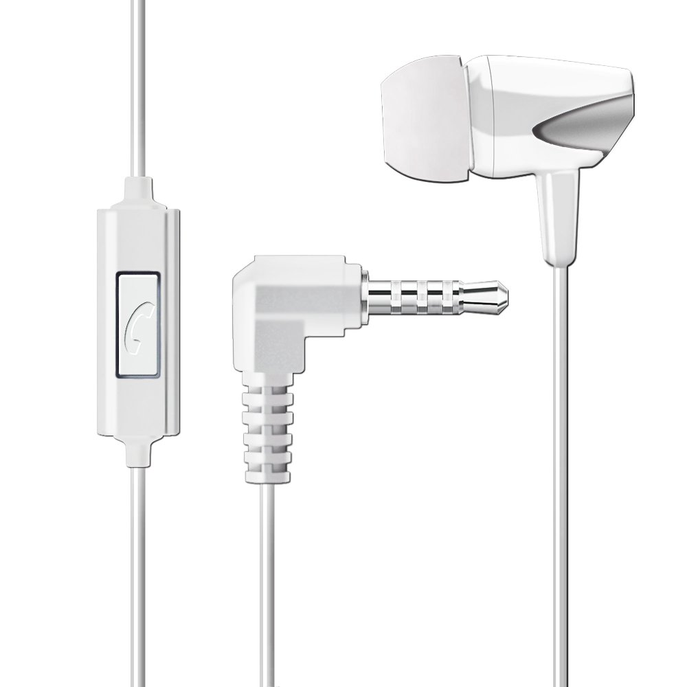 WEUTOP Stereo Headset Hands-Free Earphone with Remote-Control Switch Mic Single Earbud Headphone in-Ear earpiece WH