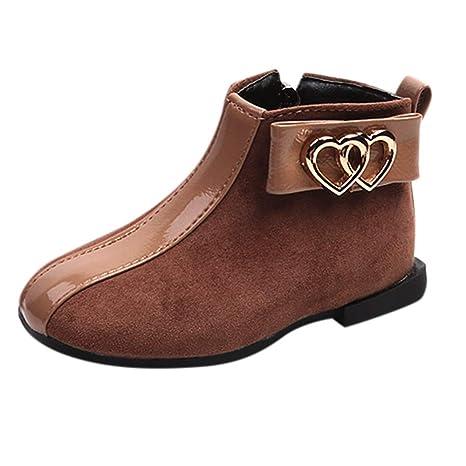 BANAA Stivali Bambino Bambini Ragazza Scarpe Invernali Caldo Stivaletti  Morbidi Sneaker Sportive Cuore Stampato Stivali Stivali bc547350e10