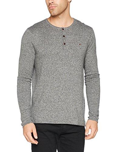 Straight lunghe 075 Grigio Fit Basic maniche grigio a scuro T Nike uomo di shirt per Tommy Htr f4SAq