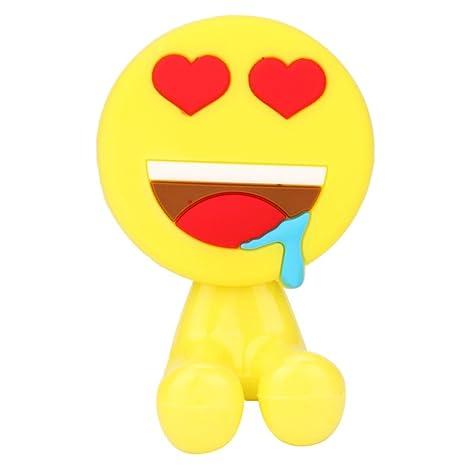 oksale Lovely Emoji diseño soporte para cepillos de dientes con ventosa con ganchos para baño cepillo