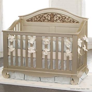 Bratt Decor Chelsea Lifetime Convertible Crib In Antique Silver