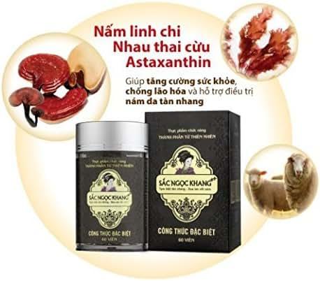 03boxes - 60 caps Sac Ngoc Khang ++ pigmentation melasma freckles - Vien Uong Sac Ngoc Khang ++