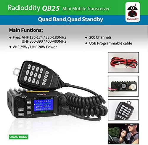 Amazon Com Radioddity Qb25 Pro Quad Band Quad Standby Mobile Ham